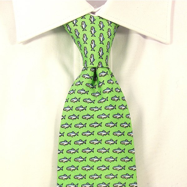 green ties for a wedding